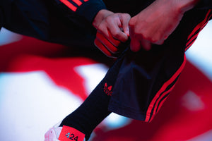 Adidas x 424 Track Pant - Black/Red
