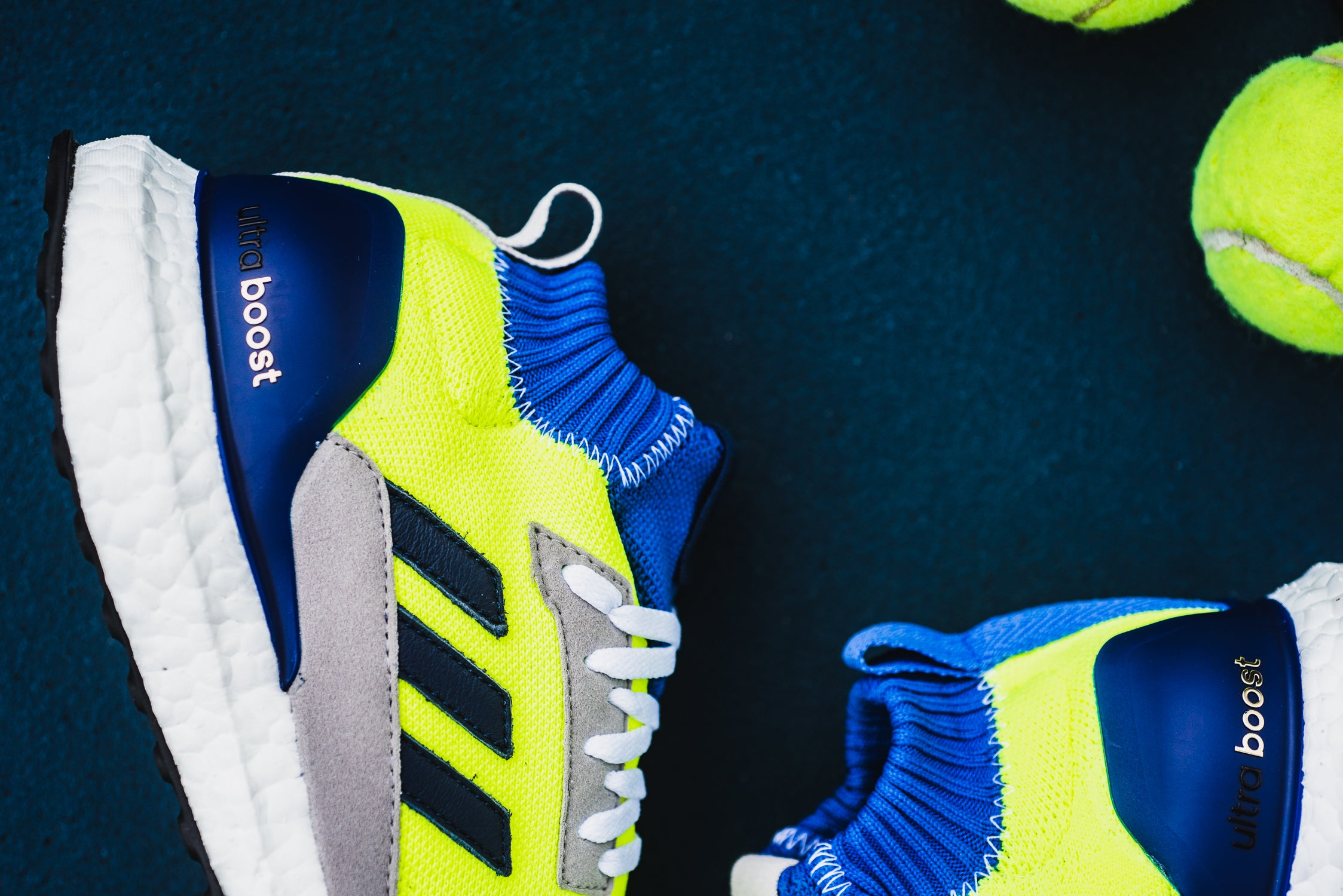01939db209001 Adidas Consortium Ultra Boost Mid Prototype - Solar Yellow High Res Blue  White