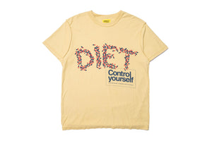 Diet Starts Monday Pill Tee - Tan
