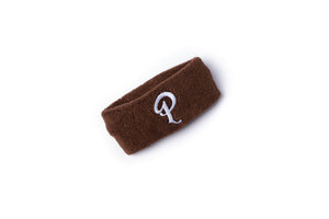 Politics Embroidered 'P' Logo Headband - Brown
