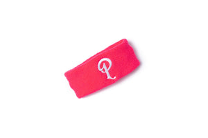Politics Embroidered 'P' Logo Headband - Neon Pink