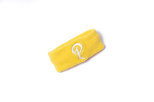 Politics Embroidered 'P' Logo Headband - Yellow