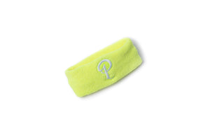 Politics Embroidered 'P' Logo Headband - Neon Yellow