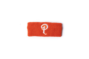 Politics Embroidered 'P' Logo Headband - Orange