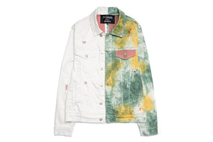 En Noir Cash Denim Jacket - Green Tiedye