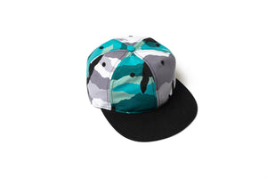 Rokit The Peewee Six Panel Hat - Camo/Black