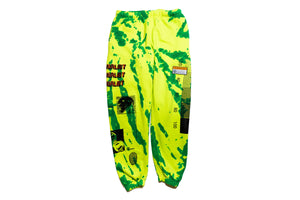INDVLST Tie Dye Fleece Sweatpants - Green