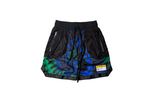 INDVLST Tie Dye Mesh Shorts - Black/Multi