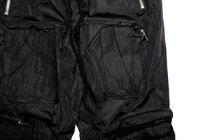 INDVLST Color Block Nylon Cargo Pants - Black