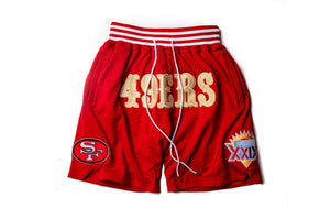 Just Don Cali Gold Rush Short San Francisco 49ers Shorts - Red/Gold