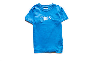 Kids Politics Mini Logo Tee - Baby Blue
