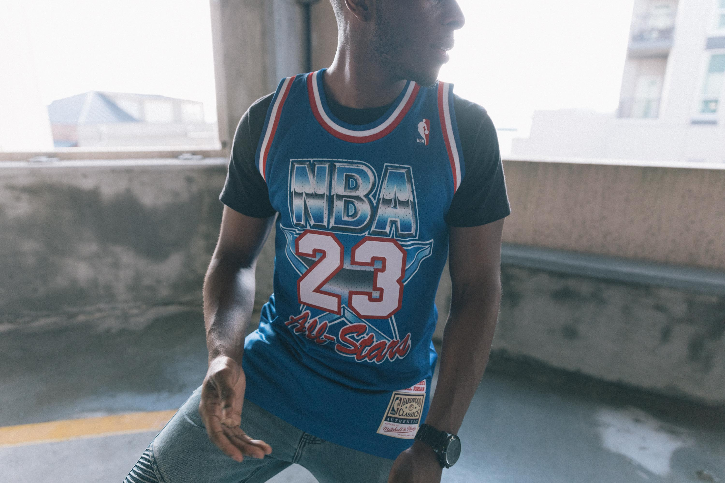 promo code 45a58 a4d09 Mitchell   Ness All Star East  93 Michael Jordan Authentic Jersey - Blue