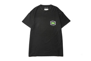 Purple Brand Rectangle Neon Tee - Black