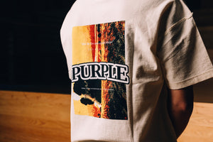 Purple Brand Relaxed Sunset Tee - White