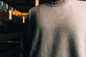 Purple Brand After the Fire Crewneck Sweatshirt - Grey