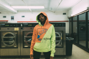 Rokit The Roses Hoodie - Neon/Sunset