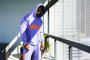Rokit Lazer Pigment Dyed Hoodie - Blue