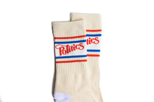 Politics Stripe Athletic Sock - Tan/Red/Blue