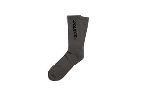 Politics Core Vertical Print Socks - Grey