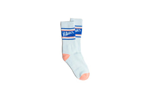 Politics Stripe Athletic Sock - Blue/Salmon