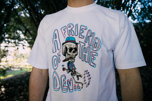 Politics Friend of the Devil Tee - White