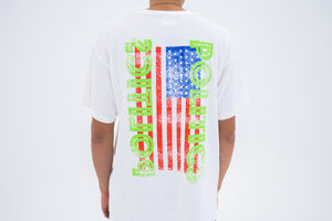 Politics Neon USA Box Logo Tee - White