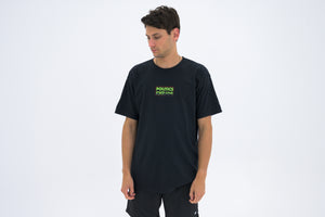 Politics Neon USA Box Logo Tee - Black