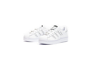 WMNS Adidas Swarovski Superstar Bold - Cloud White/Core Black/Silver Metallic