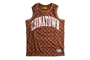 Chinatown Market Cabana Basketball Jersey - Brown