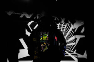 INDVLST 'Army of One: Hand Printed' Parka - Black