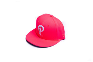 Politics New Era 'P' 59Fifty Fitted - Pink Glow