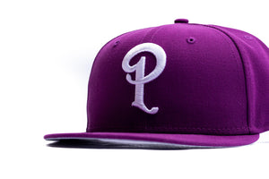 Politics New Era 'P' 59Fifty Fitted - Sparkling Grape