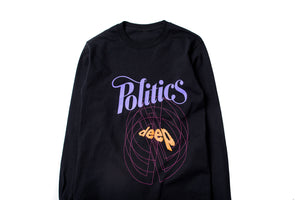 Politics x Darkoveli 'Like Deep' L/S - Black