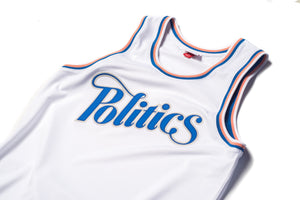 Politics x Mitchell & Ness Team Jersey - White/Pink/Royal