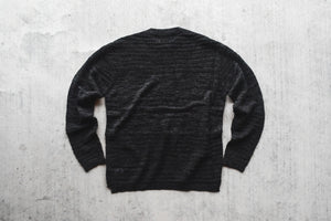 STAMPD Drop Needle Pullover Sweater - Heathered Black