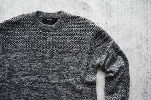 STAMPD Drop Needle Pullover Sweater - Heathered Grey