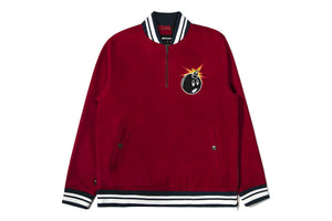 The Hundreds Legacy Half Zip - Burgundy