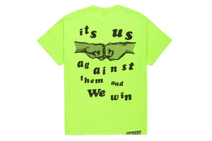 10 Deep Us vs Them Tee - Neon Yellow