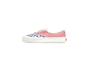 Vans Vault OG Authentic Lx - Logo Check/Indigo/Red