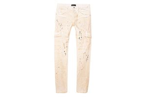 Purple Brand Mid Rise Jeans - White Dirty Cargo
