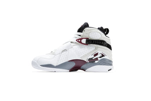 WMNS Air Jordan 8 Retro 'Burgundy' - White/Hyper Blue/Black