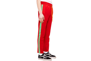 Almost Always Bravo Track Pants- Red/Green