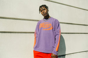 AOT 'Spinner Logo' Long Sleeve Tee - Purple
