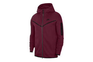 Nike Sportswear Tech Fleece Men's Full-Zip Hoodie - Dark Beetroot/Black