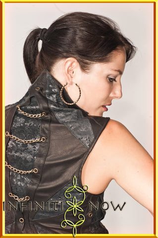 Mandala Vest leather