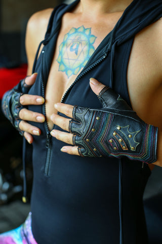 Rainbow Warrior gloves - anahata designs