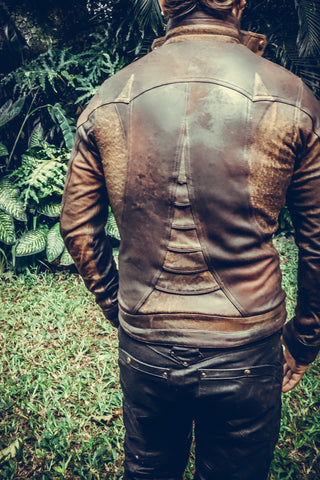 Alloy leather jacket