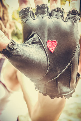 Heart On ladies gloves