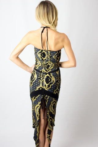 Infiniti Wrap Dress (illuminate print)