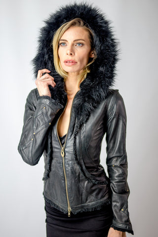 Victory leather jacket womens cut - anahata designs